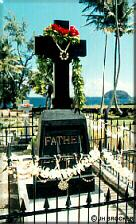 Photo - Kalaupapa - Father Damien's grave, Molokai, Hawaii