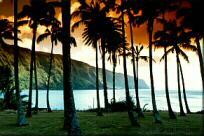 Photo - Kalaupapa -Cliff west of the peninsula, Molokai, Hawaii